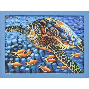 Décorations murales Sea Turtle 58x76 cm Kare Design