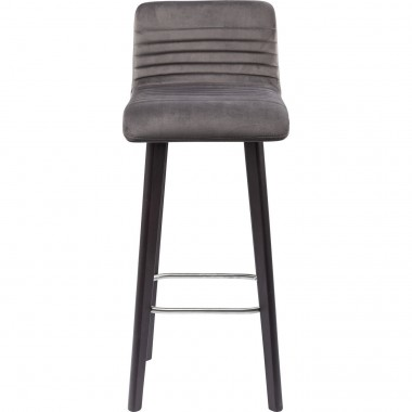 Bar Stool Lara Velvet Silver Kare Design