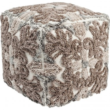 Pouf Ornaments nature 45x45cm Kare Design