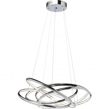 Pendant Lamp Saturn LED Chrome Big Kare Design