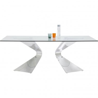 Table Gloria chrome 200x100 cm Kare Design