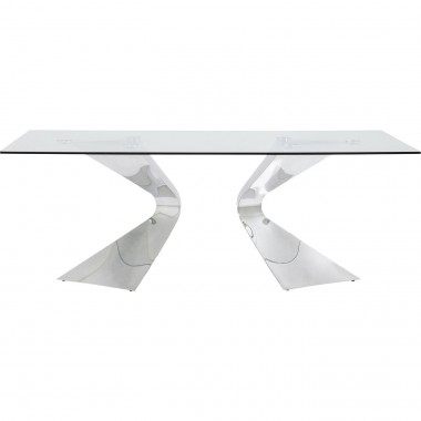 Table Gloria Chrome 200x100cm Kare Design