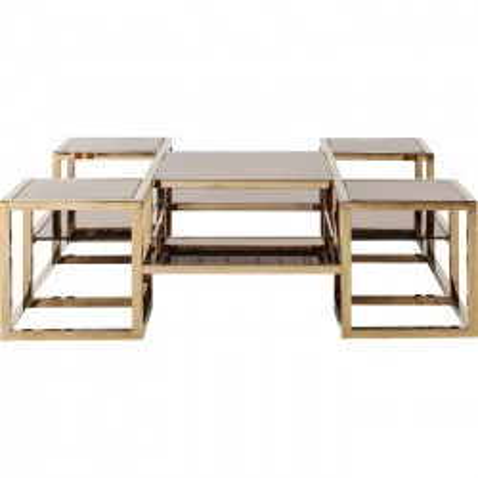 Coffee Table Steps Gold 120x120cm Kare Design