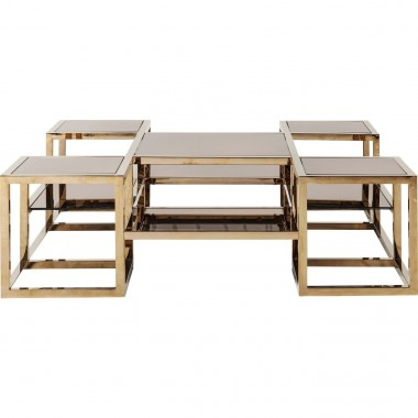 Coffee Table Steps Gold 120x120cm Kare Design