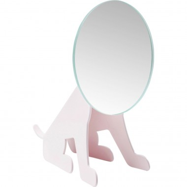 Table Mirror Dog Face Pink Kare Design