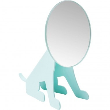 Table Mirror Dog Face Mint Kare Design