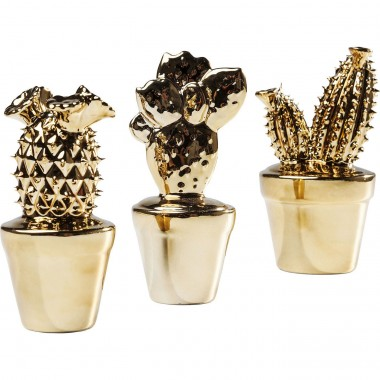Deco Cactus Gold Glossy  Small Assorted Kare Design