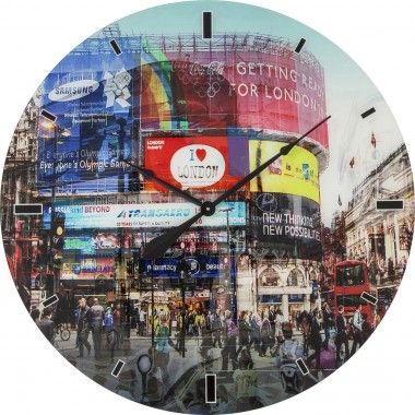 Wall Clock Glass Piccadilly Circus Ø80cm Kare Design