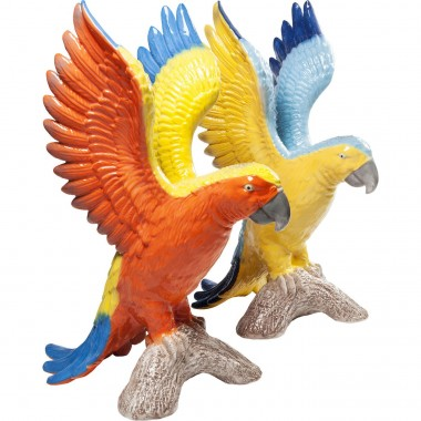 Deco Figurine  Parrot Duo Assorted Kare Design