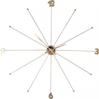 Wall Clock Like Umbrella Rose Gold Kare Design
