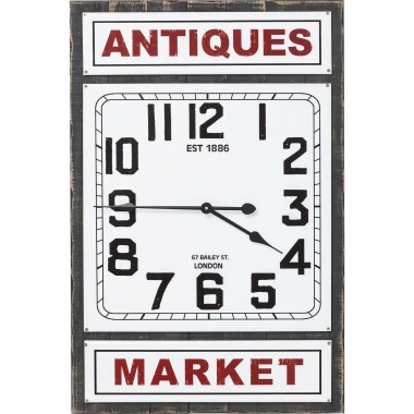 Wall Clock Antique Market Kare Design