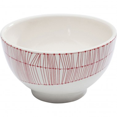 Bowl Net Red Ø14cm Kare Design