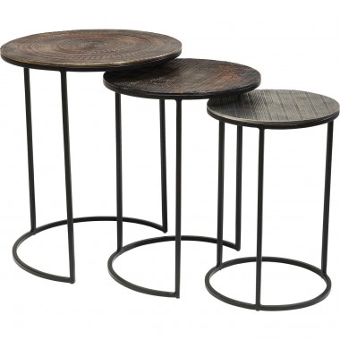 Side Table Electra (3/Set) Ø48cm Kare Design
