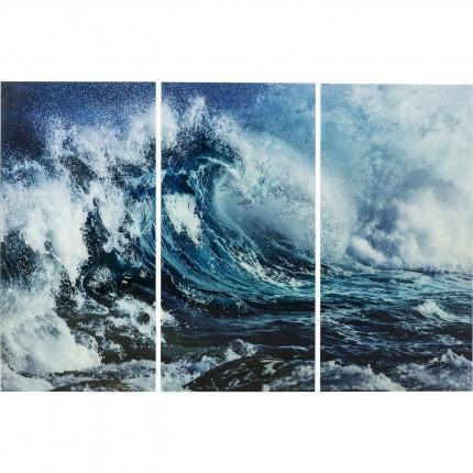Wandfoto Triptychon Wave 160x240cm (3/Set) Kare Design