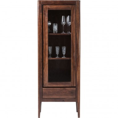 Brooklyn Walnut Display Cabinet 1 Door Kare Design
