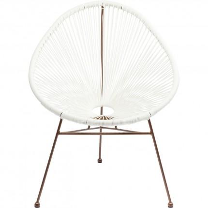Arm Chair Spaghetti Rosegold  White Kare Design