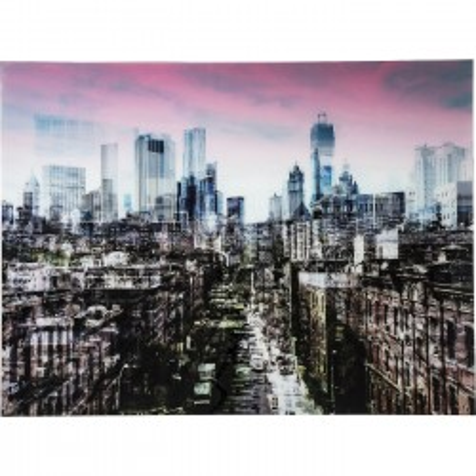 Tableau en verre New York Skyline 120x160cm Kare Design