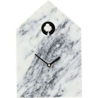 Wall Clock Cuckoo Marble Kare Design