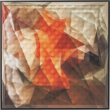 Picture Frame Art 3D Abstract Orange 80x80cm Kare Design