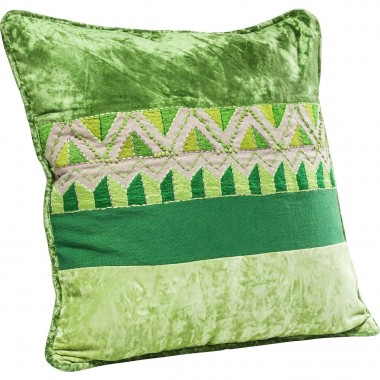 Cushion Green Ornaments  45x45cm Kare Design