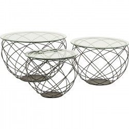 Table basse Wire Grid set de 3 Kare Design