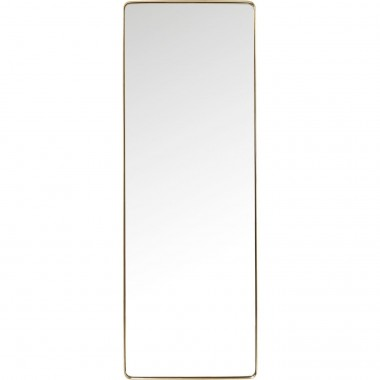 Mirror Curve Rectangular Brass 200x70cm Kare Design