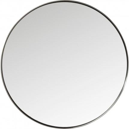 Miroir Curve rond acier nature  100cm Kare Design