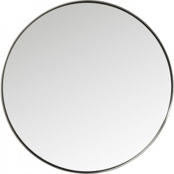 Mirror Curve Round Steel Nature Ø100cm Kare Design