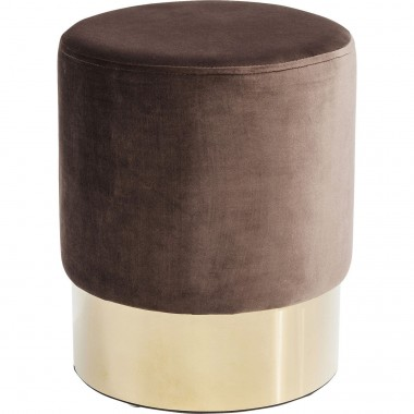 Stool Cherry Brown Brass  Ø35cm Kare Design