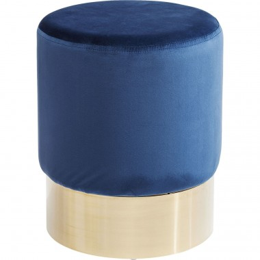 Stool Cherry Blue Brass  Ø35cm Kare Design