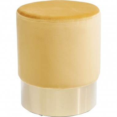 Stool Cherry Orange Brass  Ø35cm Kare Design