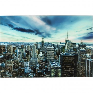 Picture Glass New York Sunset  160x120cm Kare Design