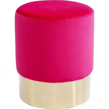 Stool Cherry Pink Brass  Ø35cm Kare Design