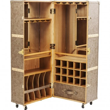 Wardrobe Trunk Bar West Coast Kare Design
