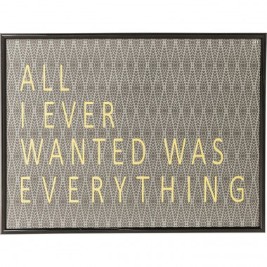Picture Frame All I Ever Wanted 41x31cm Kare Design