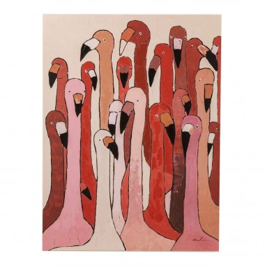 Picture Touched Flamingo Meeting 120x90cm Kare Design