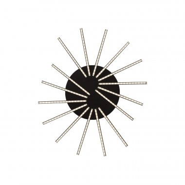 Ceiling Lamp Radiation Black LED Kare Design