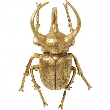 Wall Decoration Atlas Beetle Gold Kare Design