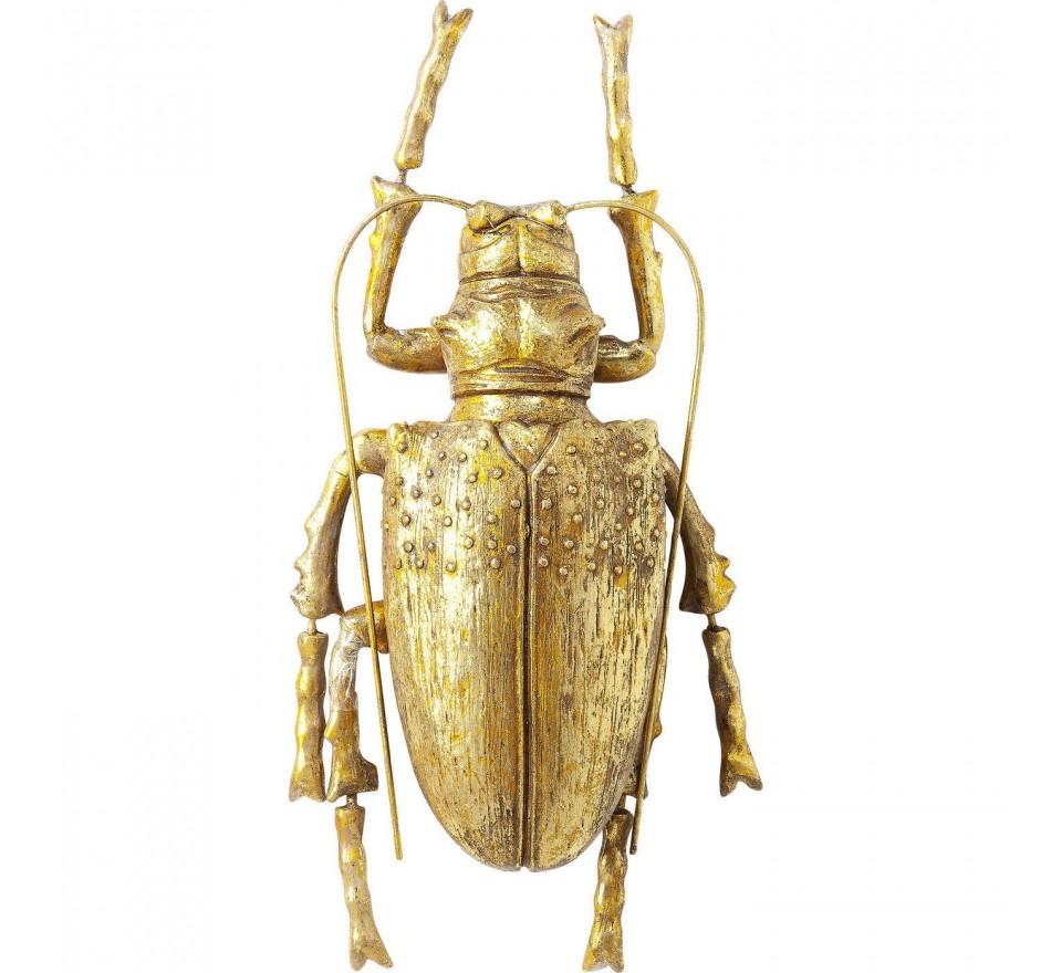 Wall Decoration Longicorn Beetle Gold Kare Design