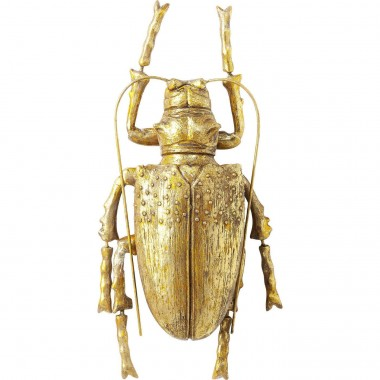 Wall Decoration Longicorn Beetle Gold Kare Design