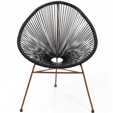 Arm Chair Spaghetti Rosegold Black Kare Design