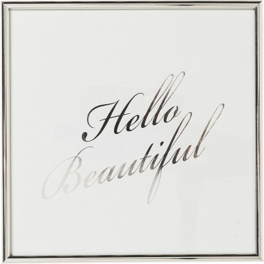 Picture Frame Hello Beautiful 27x27cm Kare Design