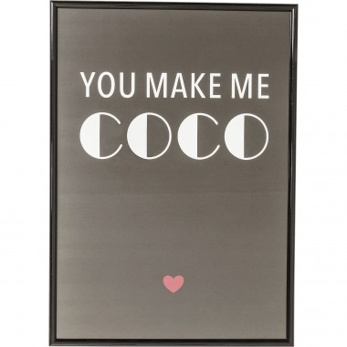 Picture Frame You Make Me Coco 42x30cm Kare Design