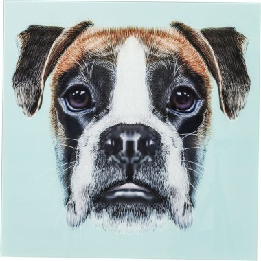 Tableau en verre Dog Face 60x60cm Kare Design