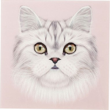 Tableau en verre Cat Face 60x60cm Kare Design