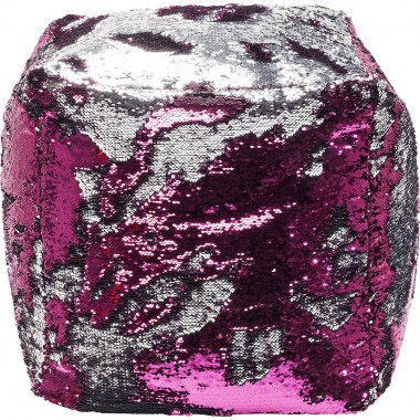 Stool Disco Queen Pink-Silver 45x45cm Kare Design
