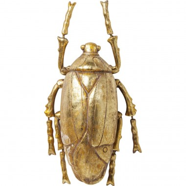 Wall Decoration Plant Beetle Gold Kare Design