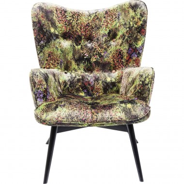 Armchair Black Vicky Green Dschungel Kare Design
