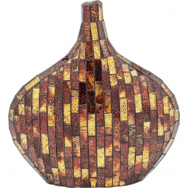Vase Mosaico Brown 33cm Kare Design
