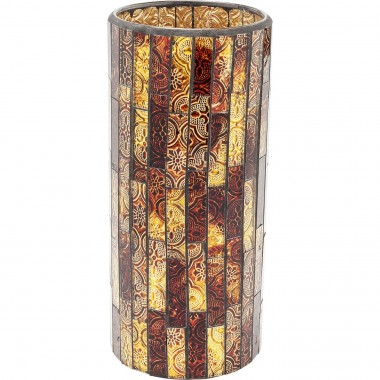 Vase Mosaico Brown 25cm Kare Design